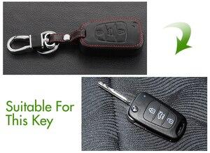 Image 2 - Funda de cuero genuino para llave, cubierta para llave para Kia KX3 KX5 K3S RIO 4 Ceed Cerato Optima K5 Sportage Soul Sorento, estilismo para coche