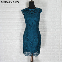 Free Shipping 2017 hot Two Pieces Lace Mother of the Bride Dresses With Jacket Scarf Knee Length Fishtail For Wedding Party Gown