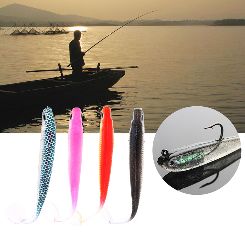 Fishing Shad Fishing Worm Swimhook fishhooks fishing baits with hook Head Soft Fly Fishing tool