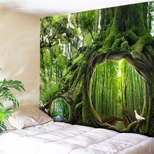 Psychedelic Tapestry Tree Hole 3D Wall Hanging Flowers Decorative Wall Tapestries Art Wall Carpet Home Decor Boho Hippie Blanket