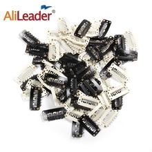 Alileader Лидер продаж черно-белые заколки для волос на заколках для наращивания волос гребень на заколках 20 шт./лот