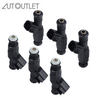 AUTOUTLET 6Pcs Upgrade High Impedance Fuel Injector Fuel Spray Nozzle 4 Hole 0280155784 for Jeep Wrangler Cherokee 4.0L
