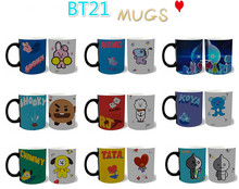[MYKPOP]BTS BT21 SHOOKY KOYA CHIMMY RJ Love Yourself Mug Coffee Water Milk Ceramic Cup Creative KPOP Fans Collection SA18061019