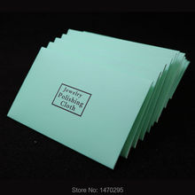 100pcs silver polish cleaning polishing cloth with package wiping of jewelry suede maintenanc