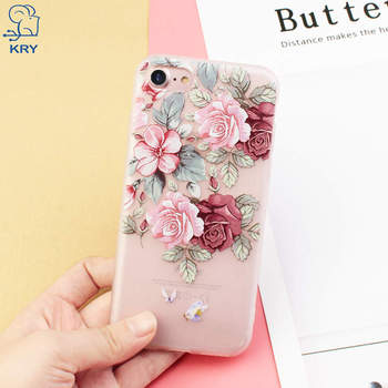 iPhone 6s Case Flowers Slim Shockproof Clear Floral Pattern Soft