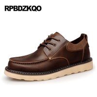 Big Size Casual Brown Shoes British Style Male Business Flats Work Tan Office Autumn Popular Fashion