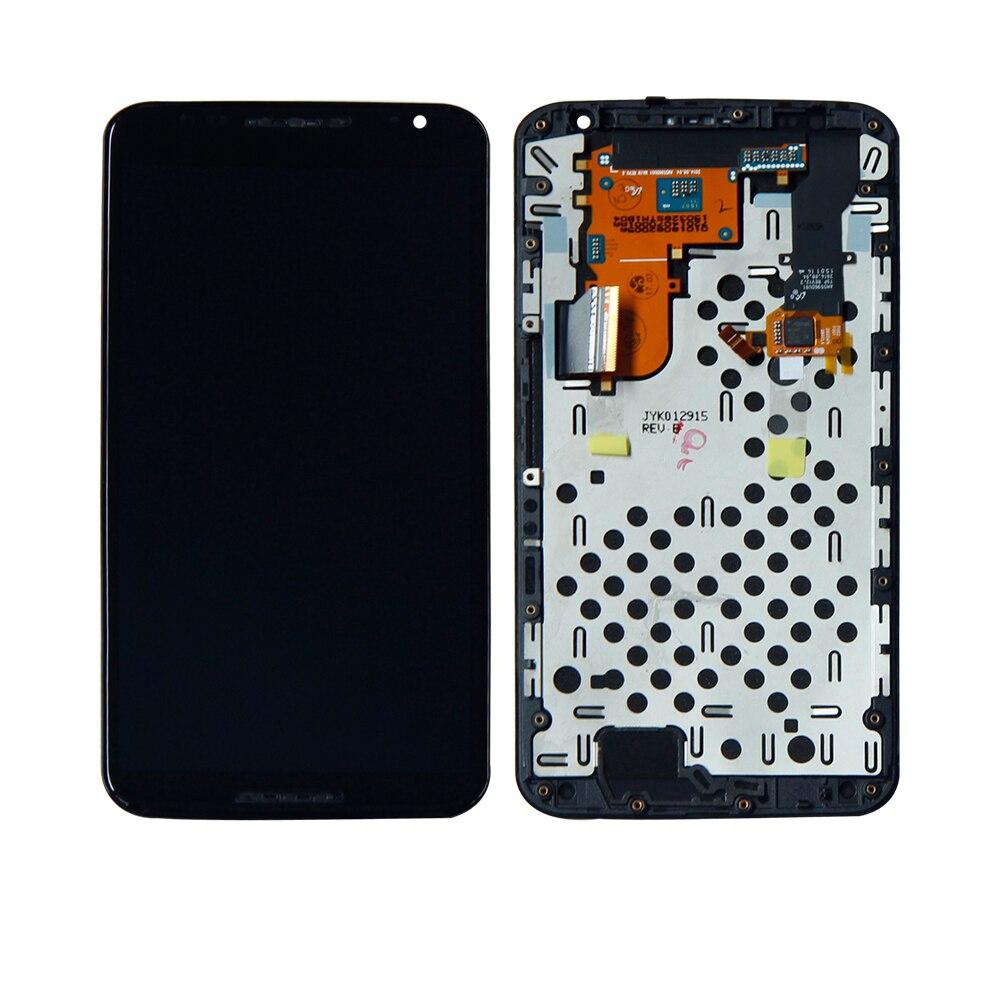 Pour Motorola Nexus 6 XT1103 XT1100 écran tactile numériseur Lcd affichage avec cadre assemblage téléphone panneau remplacement livraison gratuite