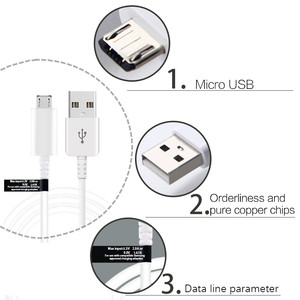 Image 2 - Vothoon 1.2m Micro USB Data Charger สายเคเบิลสำหรับ Samsung Galaxy S6 S7 Note4 N9100 Micro USB 1.2m (EP DG925UWE) 100PCS