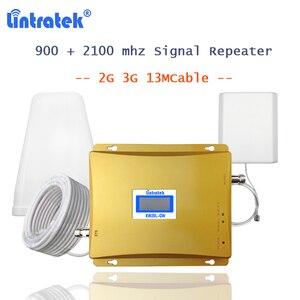 Image 1 - lintratek 3G gsm900 Repeater GSM WCDMA 2100 Cellphone Signal Amplifier Booster 2g 3g Cellular Voice Internet 2100 Amplifier S55
