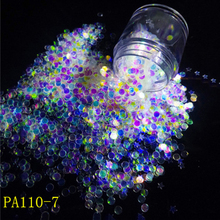 1 jar Nail Art Glitter Holo Acrylic Mix Moon/Star/Heart/Round Sequins Flake Colorful Polish Gel