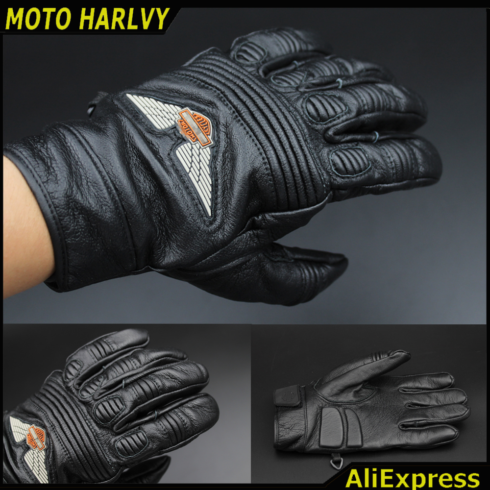 Buy leather motorcycle gloves - New Product 2016 Hot Sale Harley Classic Retro Motorcyclists Leather Gloves Long Section Of Men S Leather