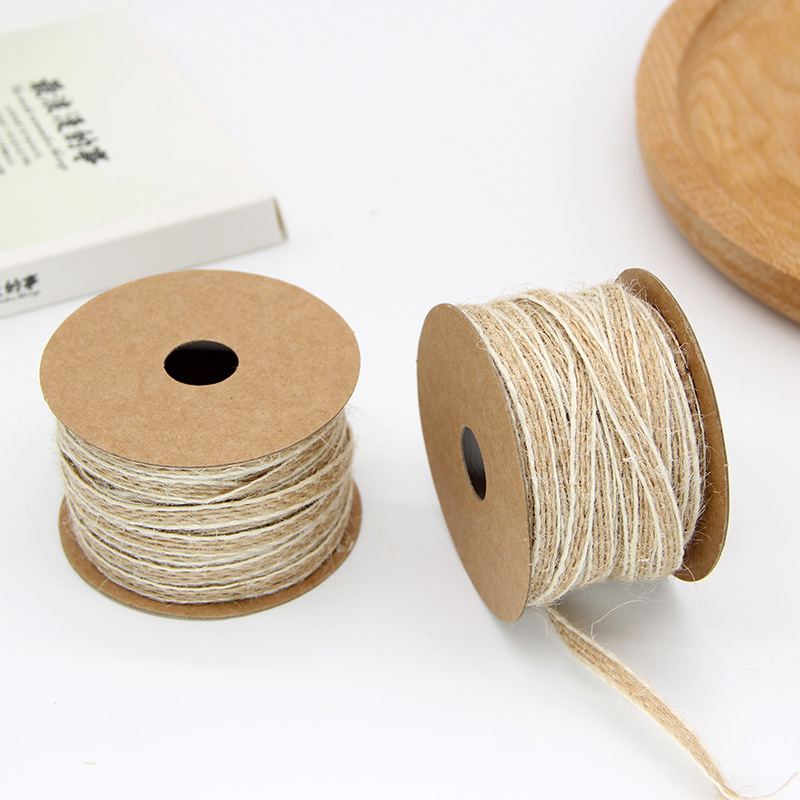 2m Vintage Hessian Rope Jute Burlap Cotton Twine Rope Ribbon Gift Wrapping