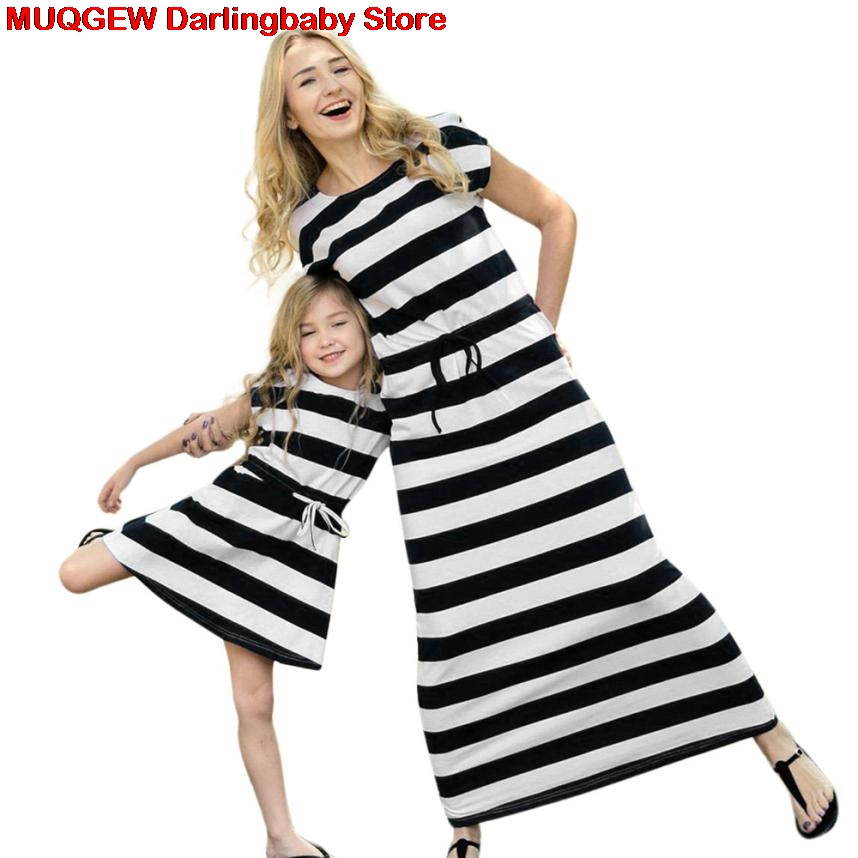 New Mother Daughter Dresses Family Matching Clothes Look Mom And Daughter Dress Mommy And Me Clothes Mother And Daughter Clothes telle mère telle fille vetement