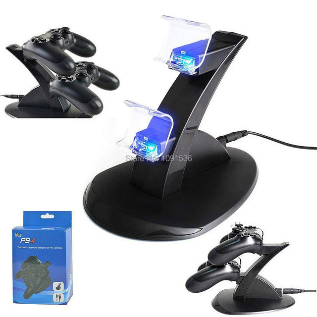PS4 LED Dual Charger Dock Station USB Fast Charging Stand  for Playstation 4 For PS4 Controller
