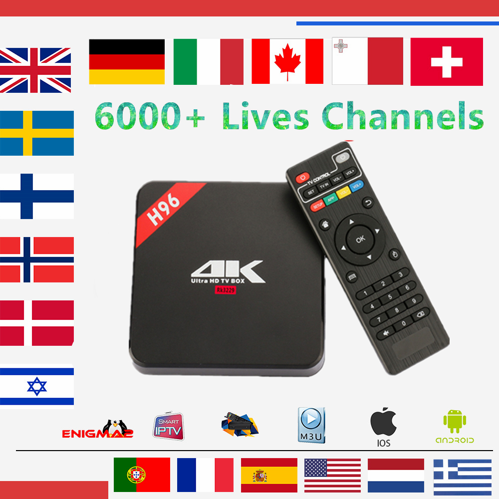 все цены на Europe IPTV Box H96 Android TV Box 8.1 1GB/8G +1year Europe iptv subscription French Spain Italy Dutch livetv for smart tv box