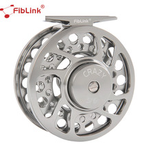 Fiblink Fly Fishing Reels with Large Arbor 2+1 BB, CNC machined Aluminum Alloy Body and Spool in Reel Sizes 3/4, 5/6, 7/8