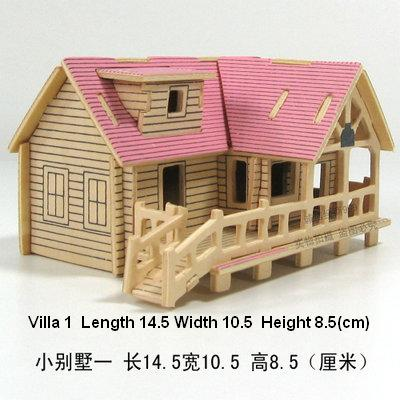Wooden 3d Puzzle Jigsaw Wooden Toy For Children Diy House Building
