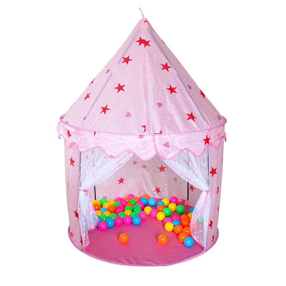 kids portable play tent foldable princess castle playhouse children tents house playing toys. Black Bedroom Furniture Sets. Home Design Ideas