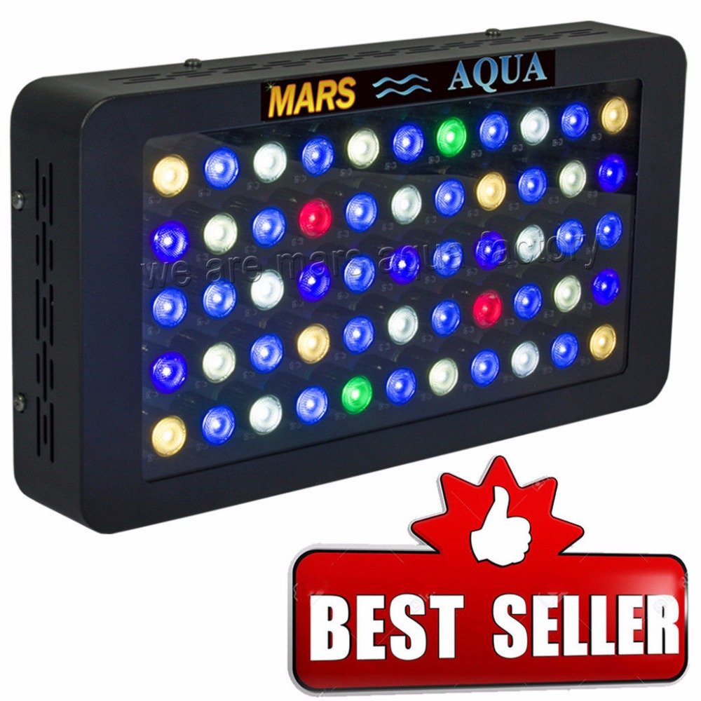 165W Dimmable LED Reef  Aquarium Lighting For Coral Reef Beautiful Fish Tank