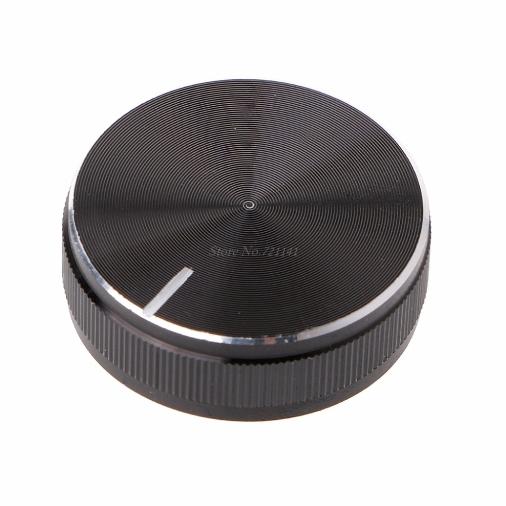 Aluminum Alloy Rotary Control Potentiometer Knob 30x10mm 6mm Shaft Hole Knobs Cap Dropship