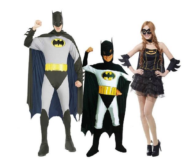 Горячая распродажа взрослых супергероев бэтмена мальчики прохладный косплей платье взрослых ну вечеринку платье или хэллоуин