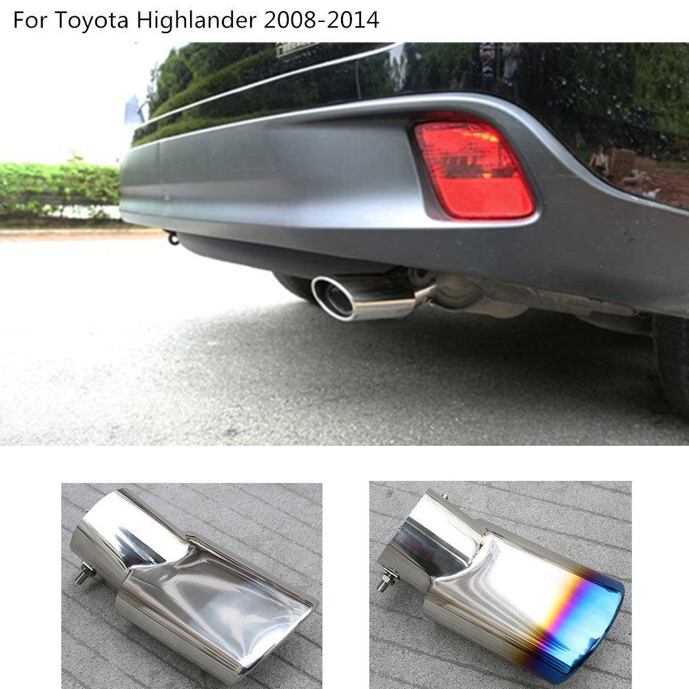 car outlet muffler exterior end pipe dedicate exhaust tip tail outlet For Toyota Highlander 2008 2009 2010 2011 2012 2013 2014