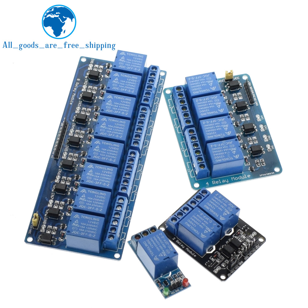 TZT 1pcs 5v 12v 1 2 4 6 8 channel relay module with optocoupler. Relay Output 1 2 4 6 8 way relay module for arduino In stock 19