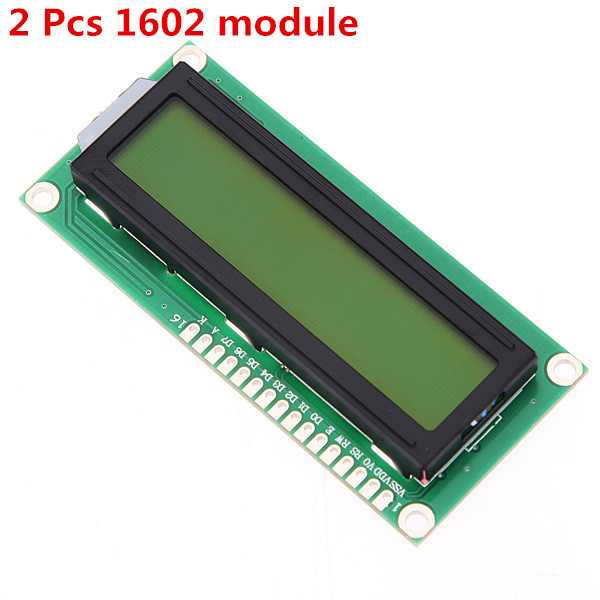 Hot Sale 2PCS LCD1602 1602 <font><b>module</b></font> Blue screen <font><b>16x2</b></font> Character <font><b>LCD</b></font> <font><b>Display</b></font> <font><b>Module</b></font> HD44780 Controller blue blacklight WAVGAT image