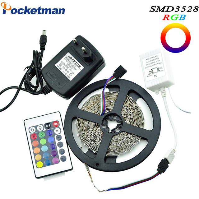 Strip RGB SMD3528 LED Strip Light 5M 60LEDS/M SMD Diode Tape LED Ribbon With