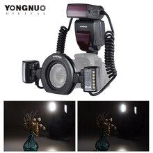 永諾YN24EX e ttlマクロフラッシュキヤノンeos 1Dx 5D3 6D 7D 70D 80Dカメラ 2 個フラッシュヘッド + 4 個アダプターリング