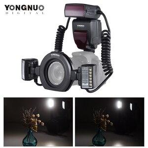 Image 1 - Yongnuo Flash Macro Speedlite YN24EX E TTL para cámaras Canon EOS 1Dx 5D3 6D 7D 70D 80D con 2 uds. De cabezal de Flash + 4 Uds.