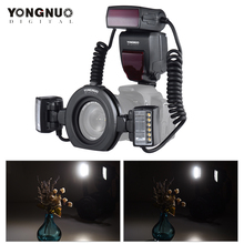 Yongnuo Macro YN24EX E TTL Flash Speedlite para Canon EOS 1Dx 5D3 6D 7D 70D 80D Câmeras com 2pcs a Cabeça do Flash + 4pcs Anéis Adaptadores