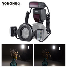 Yongnuo YN24EX E TTL Macro Flash Speedlite yn24ex for Canon EOS 1Dx 5D3 6D 7D 70D 80D Cameras 2pcs Flash Head+4pcs Adapter Rings