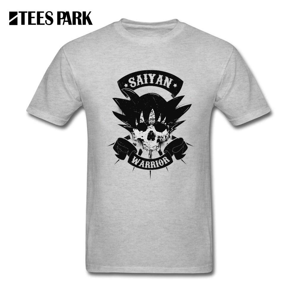 Men Cool T Shirts Funny SAIYAN WARRIOR Dragon Ball Z Goku Mens Crew Neck Short Sleeve Tees Shirt 2017 New Man Printed Tees