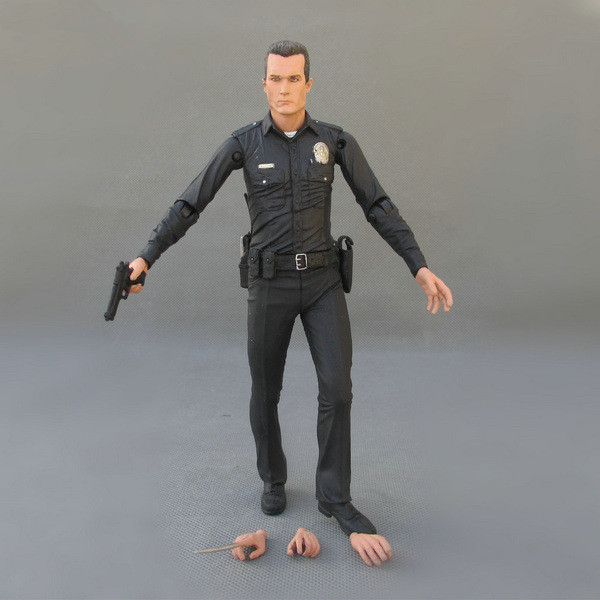 Huong Movie Figure 18 CM The Terminator 2 Action Figure T-1000 Galleria Mall PVC Action Figure Toy Collectibles Model Toy image