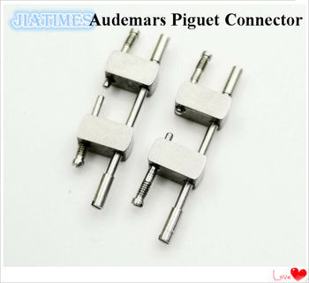 4 Steel Connectors 4 Screws 2 Links  for AP Watch 15400 15500 26331 15202 Strap Select Color for Watch Repair