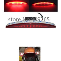Rear Specialties Red Fender Tip LED Tail Light For 2013 2017 Harley Breakout FXSB Motorcycle