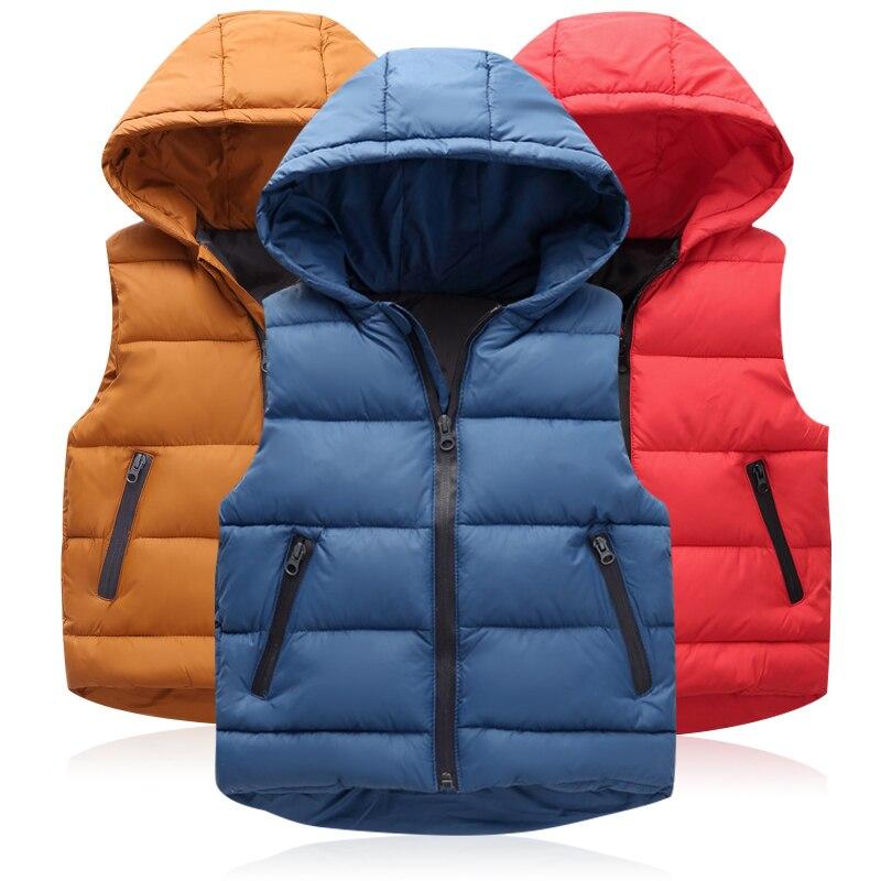 Kids Vest Jacket Coats Hoodies Autumn Baby-Girls Boys Winter Outerwear Warm Thicken