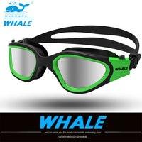 Очки для воды профессиональные плавательные очки для взрослых водонепроницаемые плавательные УФ противотуманные Регулируемые очки oculos ...
