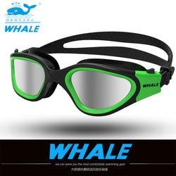 نظارات السباحة المهنية للكبار المقاومة للماء نظارات السباحة فوق البنفسجية المقاومة للضباب قابلة للتعديل نظارات حمام السباحة