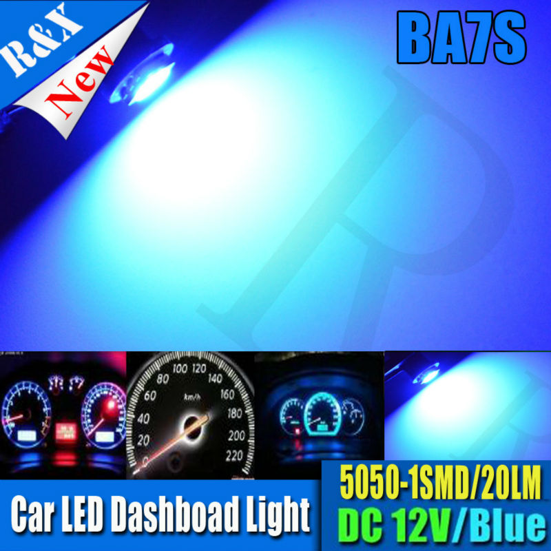 10x BA7S 5050 1SMD Car Dashboard LED Indicator Signal Warning Light Bulb Dash Lamp 12V Blue