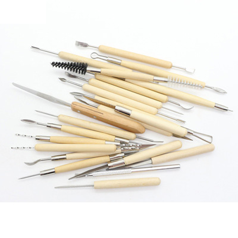 Sculpture Tools Carved Plastic Knife DIY Soft Clay Clay Hand Made Ultra-Light Clay Pottery 22 Sets Of Soft Pottery 6pcs fashion stick aluminium pole clay pottery tools 11 5cm length for art pottery sculpture