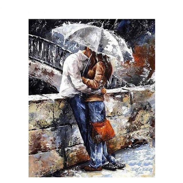 Us 998 Drop Ship Romatic Liebhaber Diy Malen Nach Zahlen Home Kunst Wand Abbildung Bilder Für Wohnzimmer Moderne Dekoration Bild Artwork In Drop