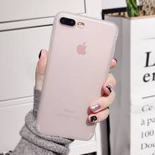 HKGK Translucent Black Matte Cases For iPhone 7 8 Plus X XS XR Cute Phone 6 6s Soft Cover MAX