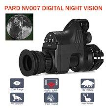 PARD NV007 5 Вт ИК инфракрасный цифровой Ночное Видение телескоп Wi Fi приложение 1080 P HD NV прицел оптическая система ночного видения Лидер продаж