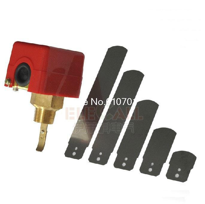 3/4 220V 3A Water/Paddle Flow Switch BSPP Thread Connection SPDT Contacts Red contacts