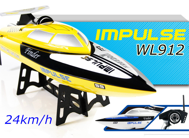 WLtoys WL912 4CH High Speed Racing RC Boat 24km/h RTF 2.4GHz Remote Control Racing Boat