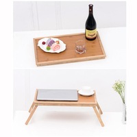Nanzhu Lazy Bed Computer Desk Folding Moon Table Simple Student Solid Wood Kang Table Small Tray