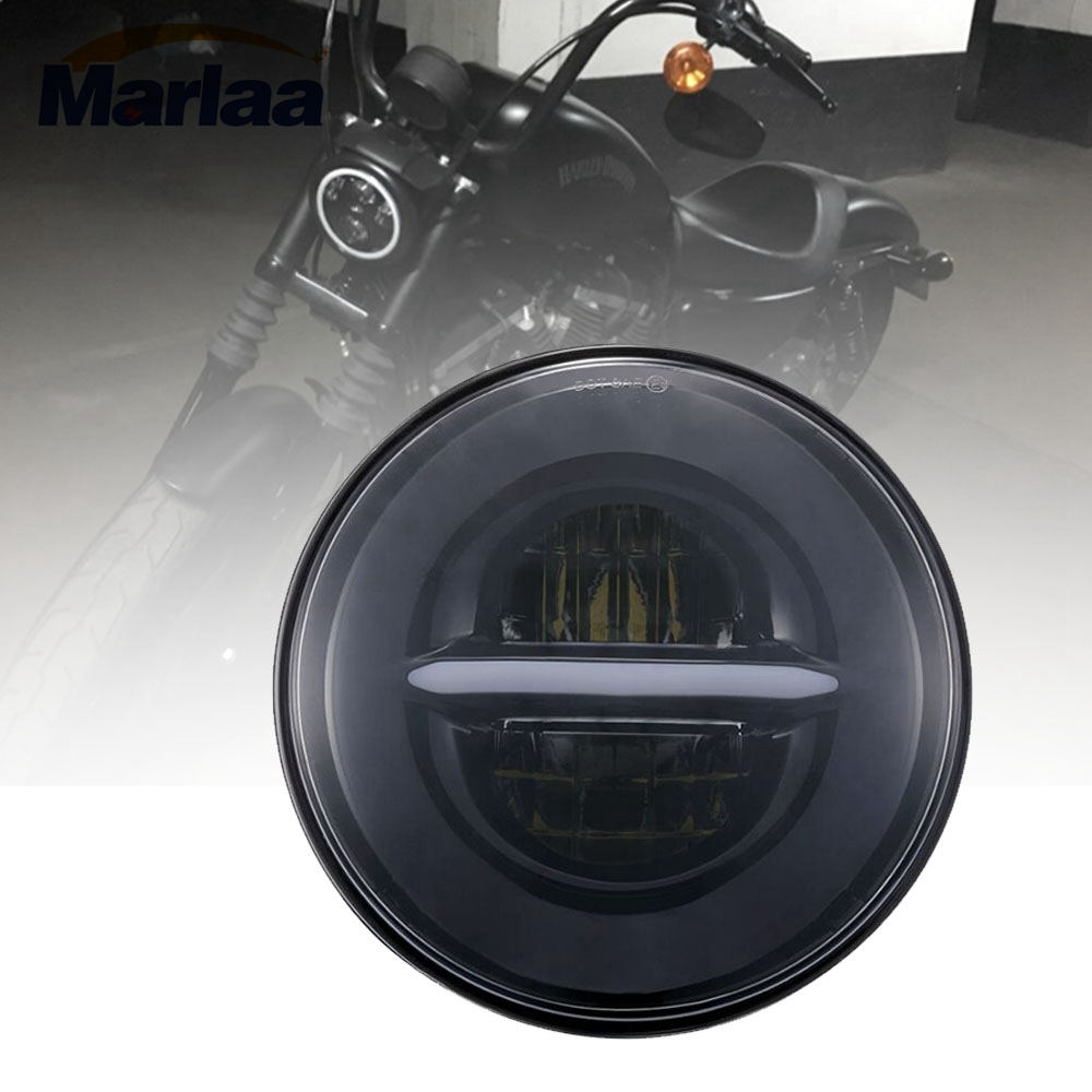 Marlaa 5-3/4 5.75 LED Headlight for Harley Davidson Motorcycle Sportster 883 Iron Dyna Street Bob Nightster Night Rod Headlamp mtsooning timing cover and 1 derby cover for harley davidson xlh 883 sportster 1986 2004 xl 883 sportster custom 1998 2008 883l