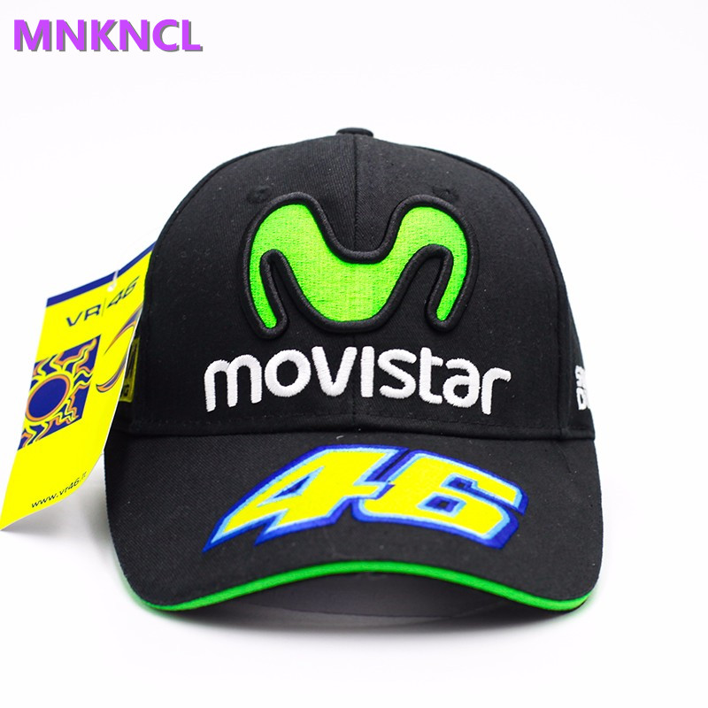Rossi VR46 Baseball Cap MOTO GP Motorcycle 3D Embroidered Racing 46 Hat Men Women Snapback Cap Sun Brand Hats Bone moto gp baseball cap 69 race nicky hayden same paragraph snapback hats moto bone motorcycle outdoor sports cap men gorra racing